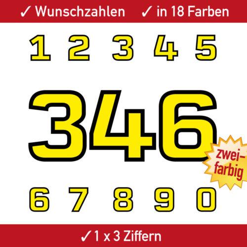 Motorrad Startnummern Zweifarbig
