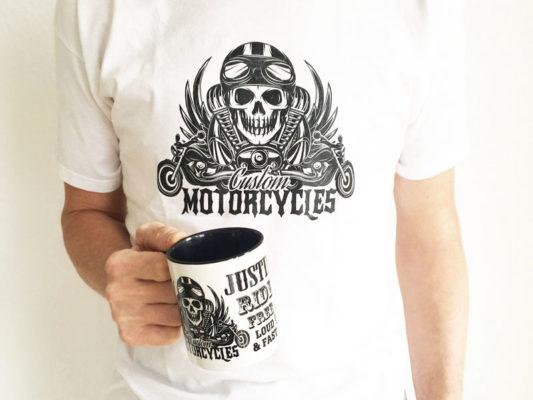 Motorradshirts für Club bedrucken