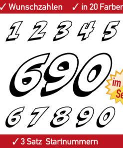 Motorsport Racing Ziffern und Zahlen