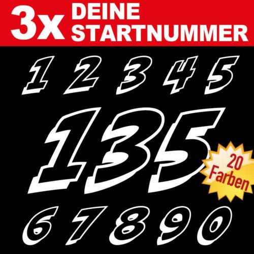 MX Ziffern Startnummern