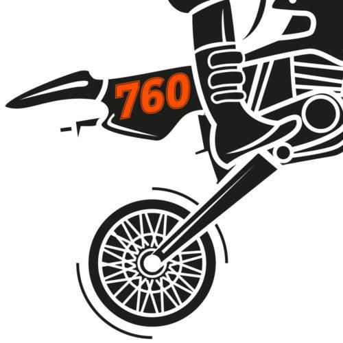 Neon orange Zahlen für MX Bikes