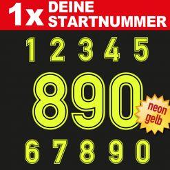 Neon Startnummer Motorrad Racing