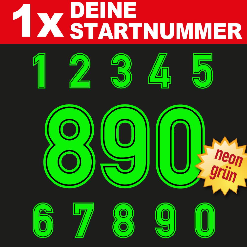 Neon Zahlen Startnummern Aufkleber für Motorräder