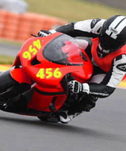 Neon Ziffer Motorrad Rennsport