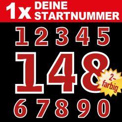 Retro Startnummern Zahlen für Oldtimer