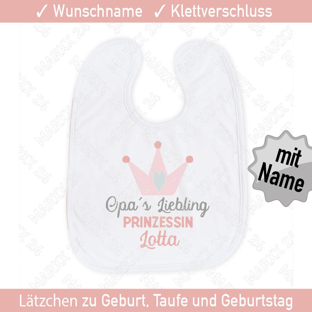 Sabberlatz Omas Liebling mit Wunschname