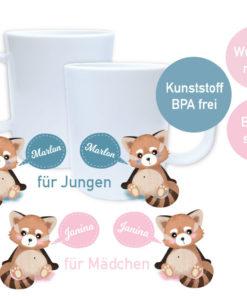 Bedruckte Panda Tassen Geschenke mit Namen