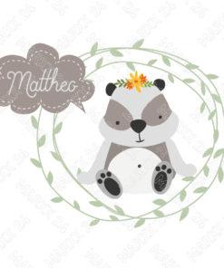 Weiße Keramik Panda Name Tasse