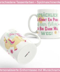 Personalisierbare Geschenke in Form von Tassen mit Namen