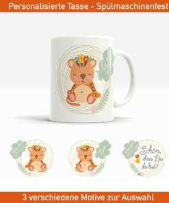 Personalisierte Baby Tasse mit Tigermotiv