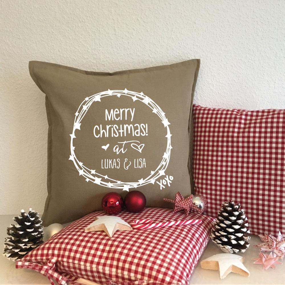 Bedruckte Kissen als personalisierte Weihnachtsgeschenke