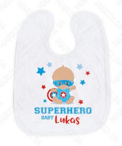 Personalisiertes Baylätzchen Superhero