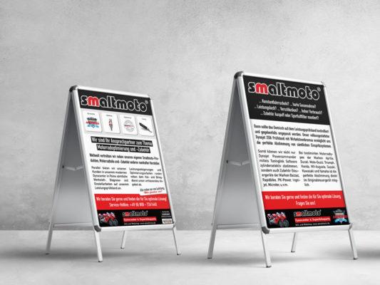 Plakataufsteller für die Werbung