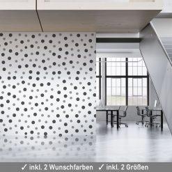 Polka Dots für Wanddeko in zwei Größen und vielen Farben