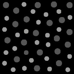 Polka Kreise in verschiedenen Größen und Farben