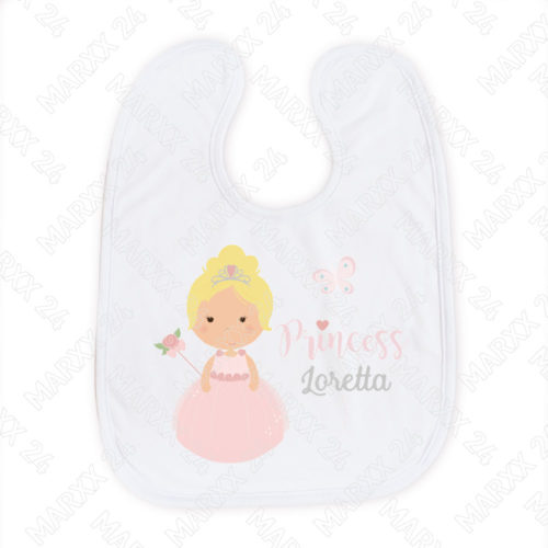 Baby Prinzessin Lätzchen mit Wunschname