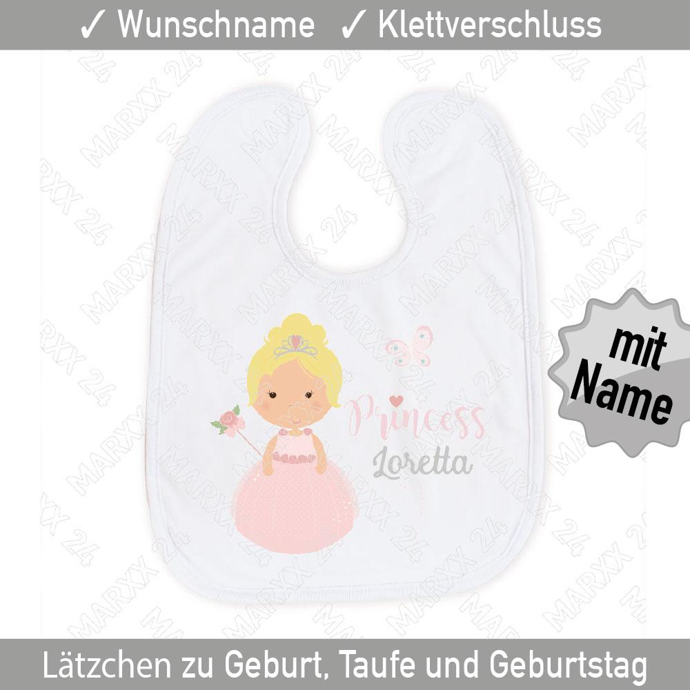 Prinzessin Baby Lätzchen mit Wunschname