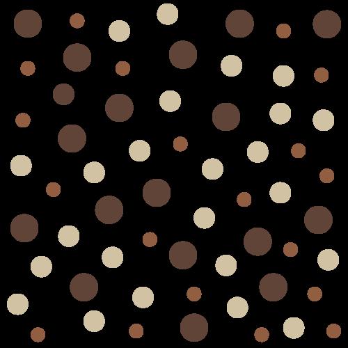 Polka Dots in warmen matten Farben