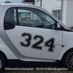 Racing Startnummer Auto in vielen Farben