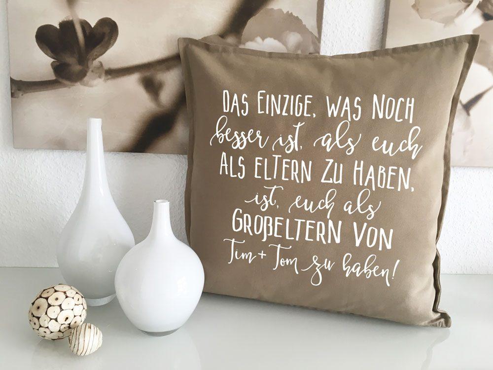 Sprüche Kissen Großeltern Geschenk Mit Namen Für Omas Und