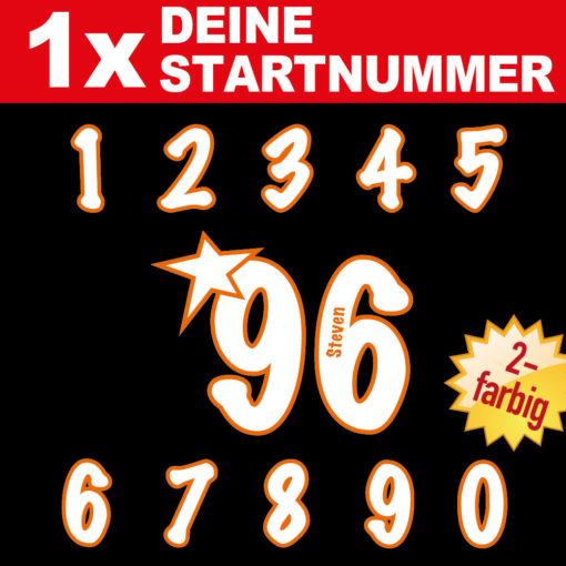 Startnummern zweifarbig und mit Namen individualisiert