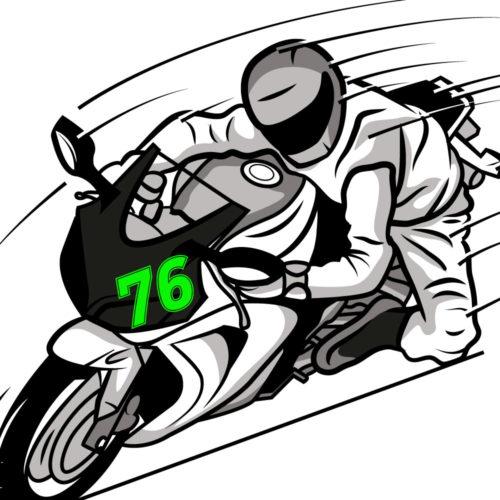 Startnummer in neongrün für Fahrzeuge