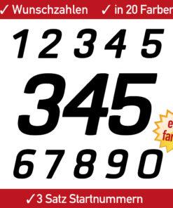 Startnummer Supermoto