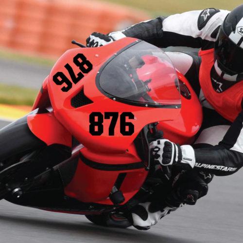 Startnummer Verkleidung für ein Rennmotorrad