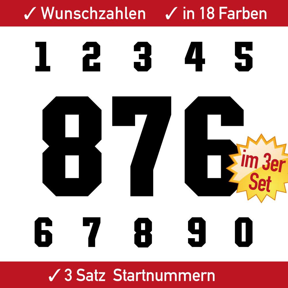 Startnummern Aufkleber für Motorräder