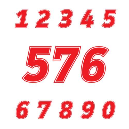 Startnummern Aufkleber Auto