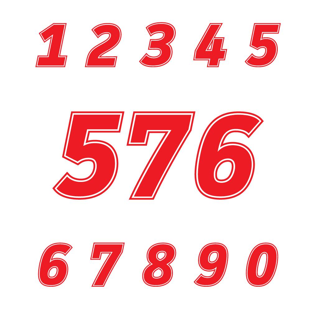 Startnummer Motorrad Rennen Motocross Zahlen Mx Auto Ziffern Aufkleber Höhen Von 4 5 6 7 8 9 10 11 12 13 14 15 Cm