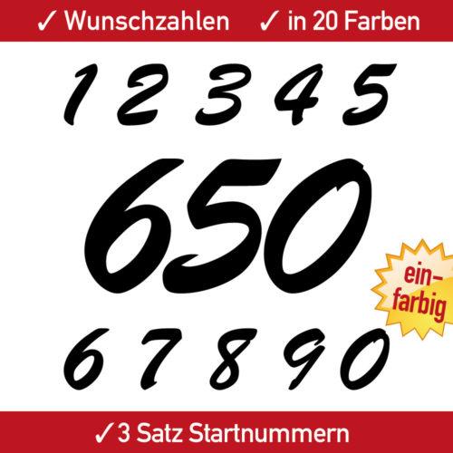 Startnummern Aufkleber Motorsport