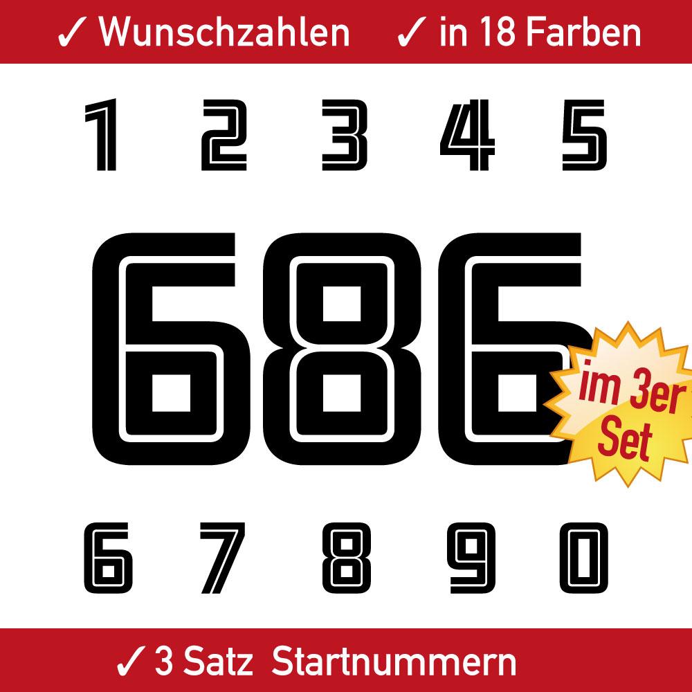 Motorra Startnummern Set einfarbig