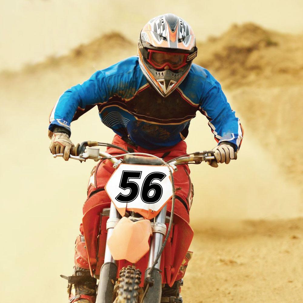 Startnummern Wunsch Zahlen für Motorräder