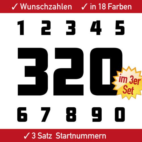 Motorrad Startnummern Ziffern Set