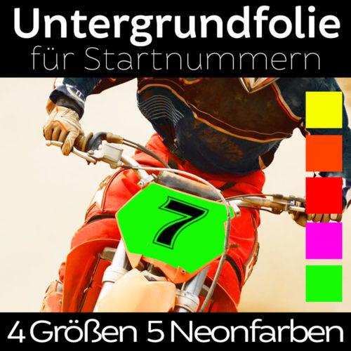 Startnummern Folie in Farbe Neon