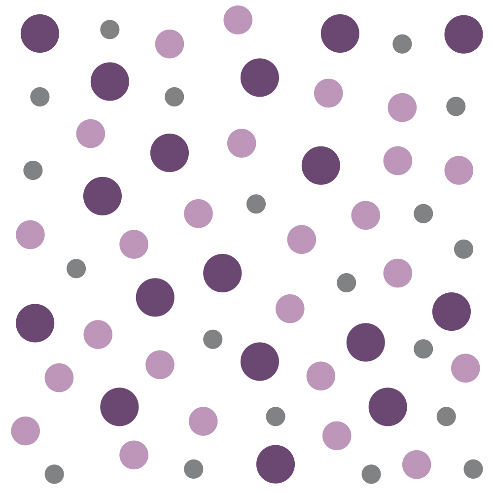 Bunte Sticker Punkte zum Aufkleben
