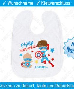 Superhero Babylätzchen Name