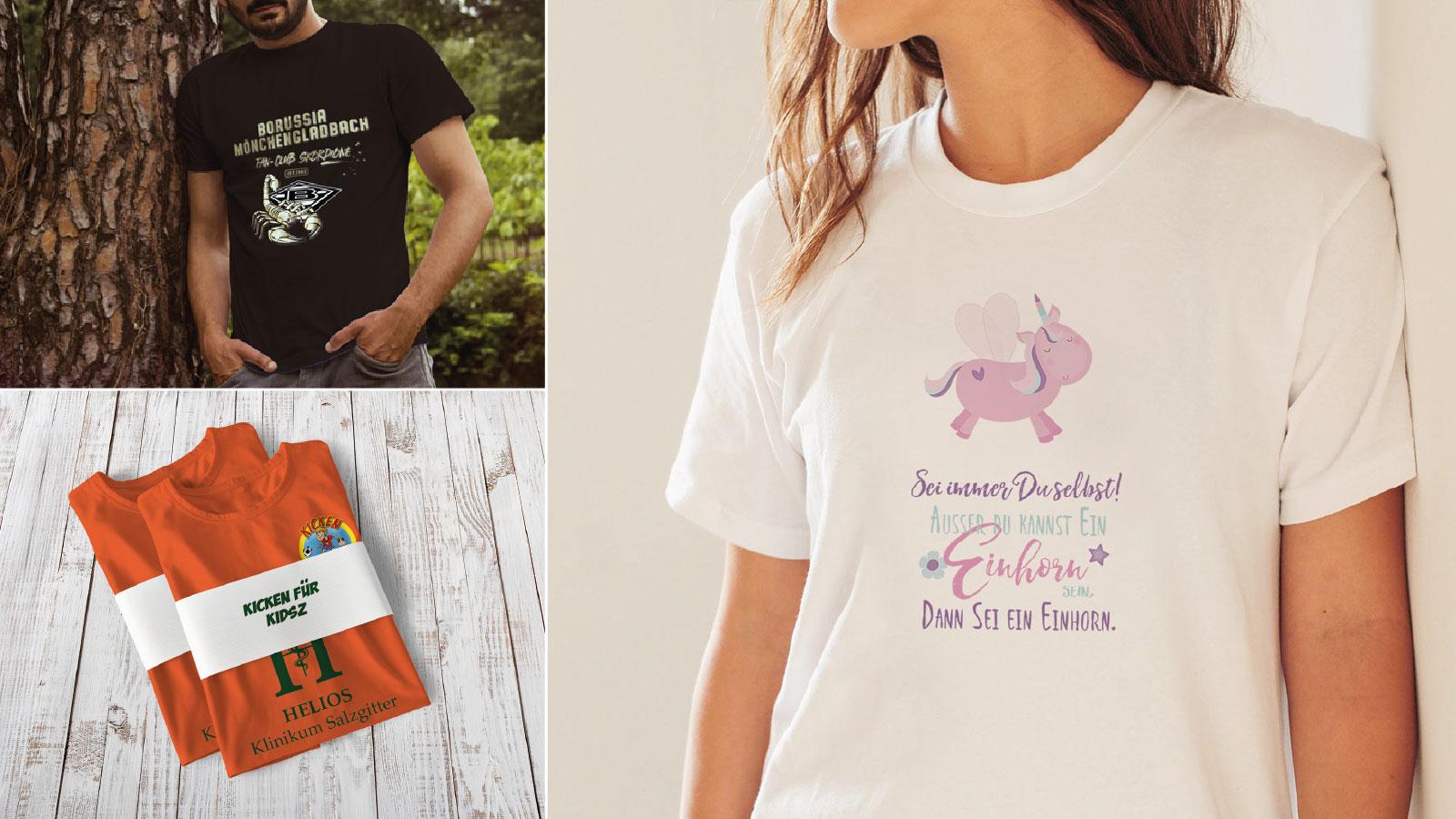 Fan T-Shirts bedrucken lassen nach Vorlagen