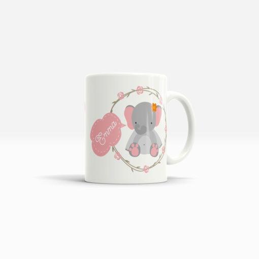 Keramik Tasse Elefant in weiß