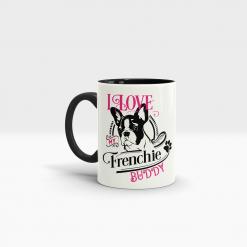 Keramik Tasse französische Bulldogge mit Wunschname
