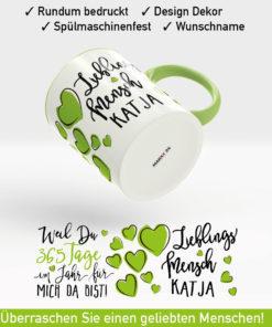 Tasse Lieblingsmensch mit Namen