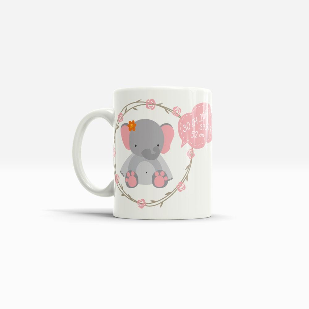 Keramik Tasse Name Elefant