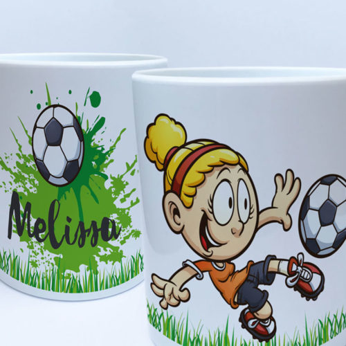 Kindertasse Fussball Name