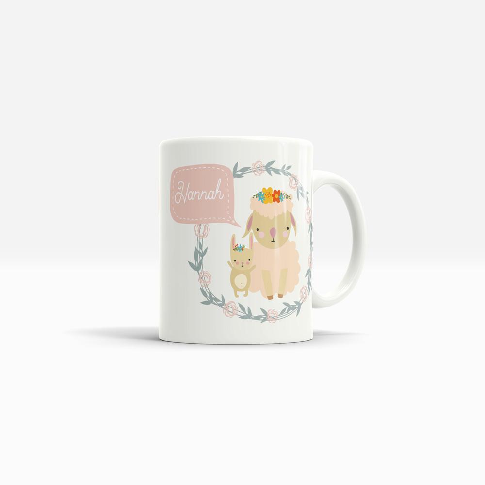 Tasse zur Geburt mit Hasenmotiv