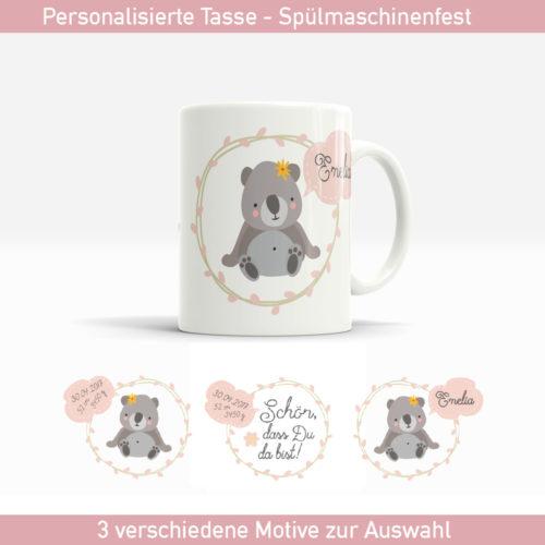 Tasse zur Geburt mit süßem Koalabär