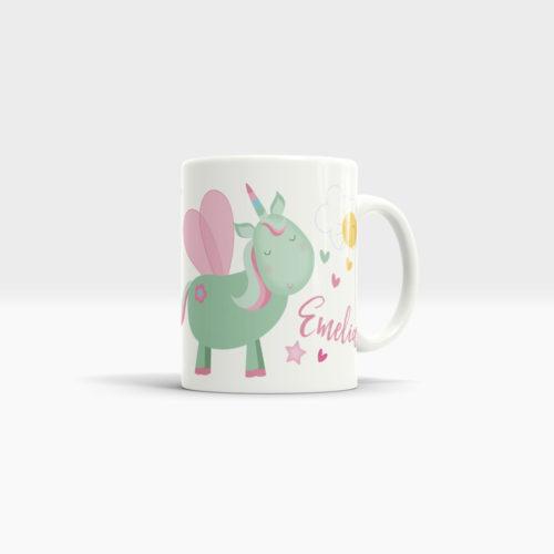 Unicorn Mug mit einem Namen