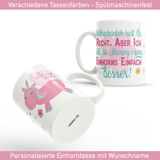 Unicorn Tasse mit Spruch