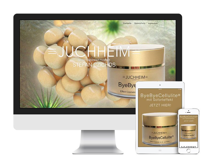 Erstellung einer Internetseite für Kosmetik