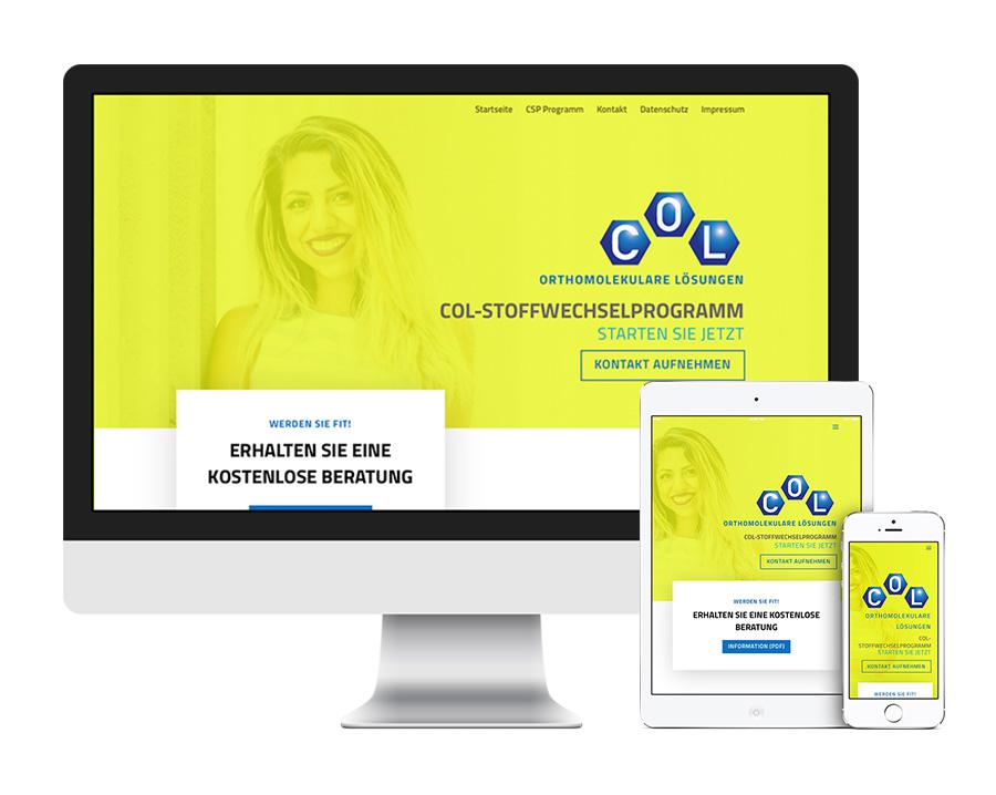 Webseite erstellt für Vertrieb von Nährstoffen